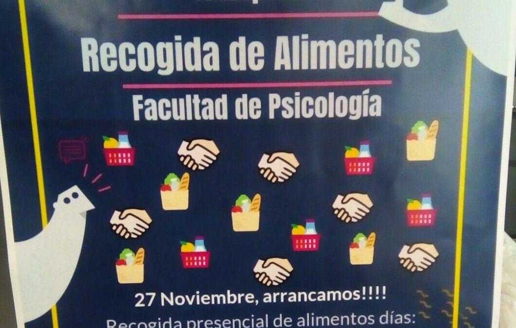 Grupo Martes participa en la Campaña de Recogida de Alimentos de la Fac. de Psicología de Valencia