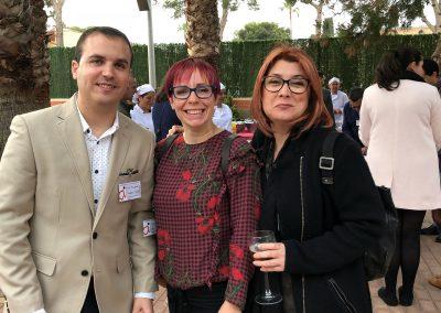 David Barqueros con Katia y Toñi de Red de Empresarios de Cartagena