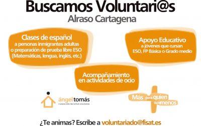 Ofertas de voluntariado en Alraso Cartagena