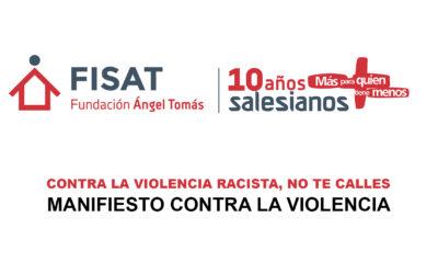 La Fundación Ángel Tomás se posiciona ante la violencia y la indiferencia