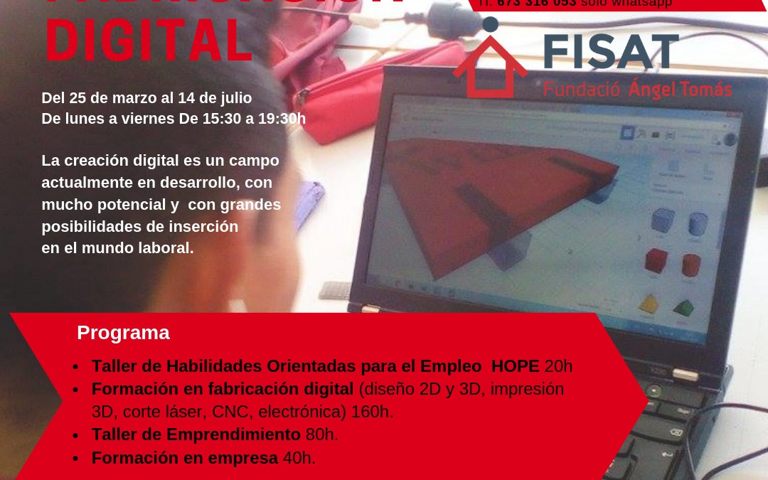 FISAT pone en marcha el curso de Fabricación Digital Fab Lab para jóvenes