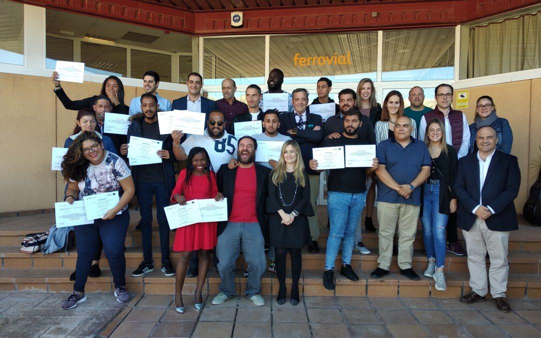El 85 % de los participantes en la Escuela de Oficios de Ferrovial Servicios y FISAT finaliza con éxito su formación