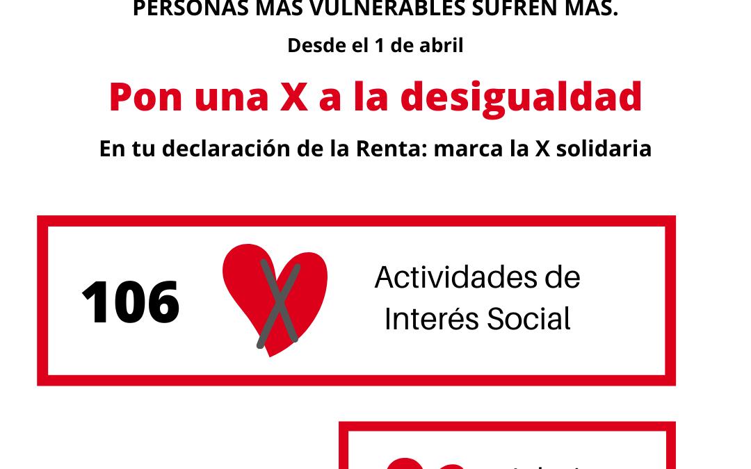 """Este año más que nunca marca """"X Solidaria"""" en tu declaración de la renta"""