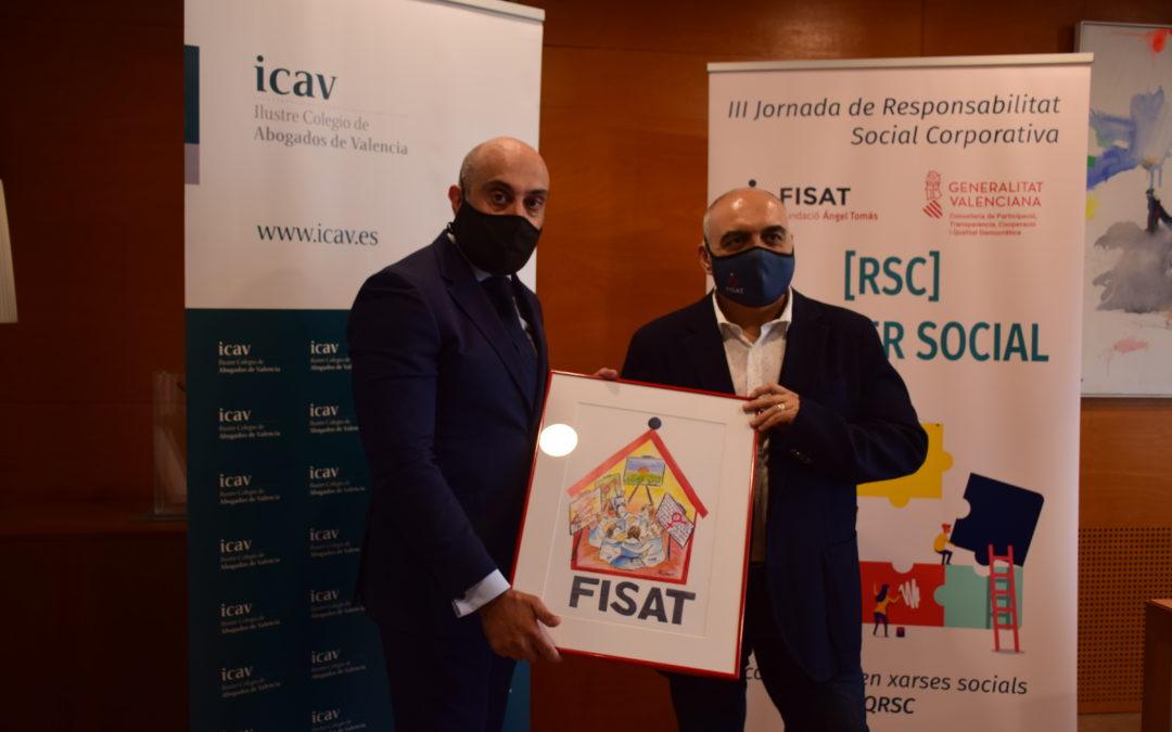 """El Ilustre Colegio de Abogados de Valencia, premio """"Quiero Ser Social"""" de FISAT"""